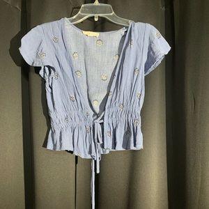 Pacsun short sleeve boho shirt